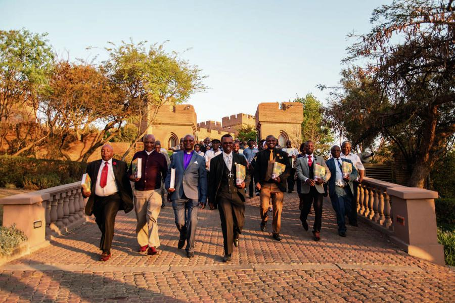Christian pastors on completion of their training on the Tools for Life at Kyalami Castle.