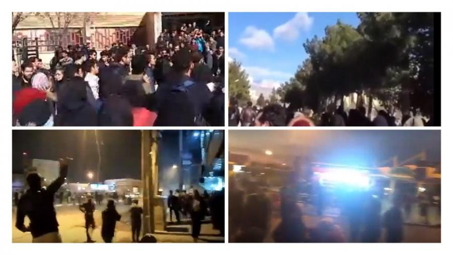 Iran Rises Up - Protests and uprising in at least 17 provinces so far