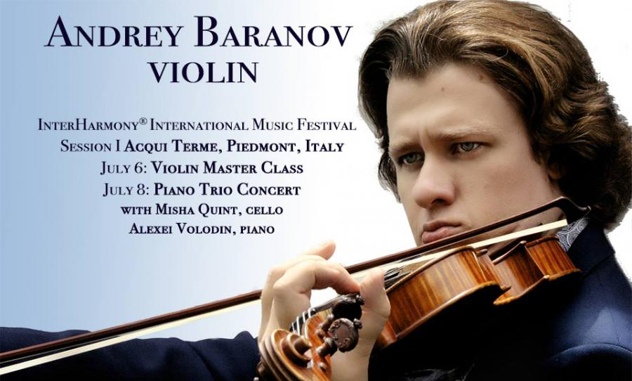 Andrey Baranov, violin, Misha Quint, cello, Alexei Volodin, piano, perform Schubert and Ravel Trios at InterHarmony International Music Festival in Italy in July of 2020.