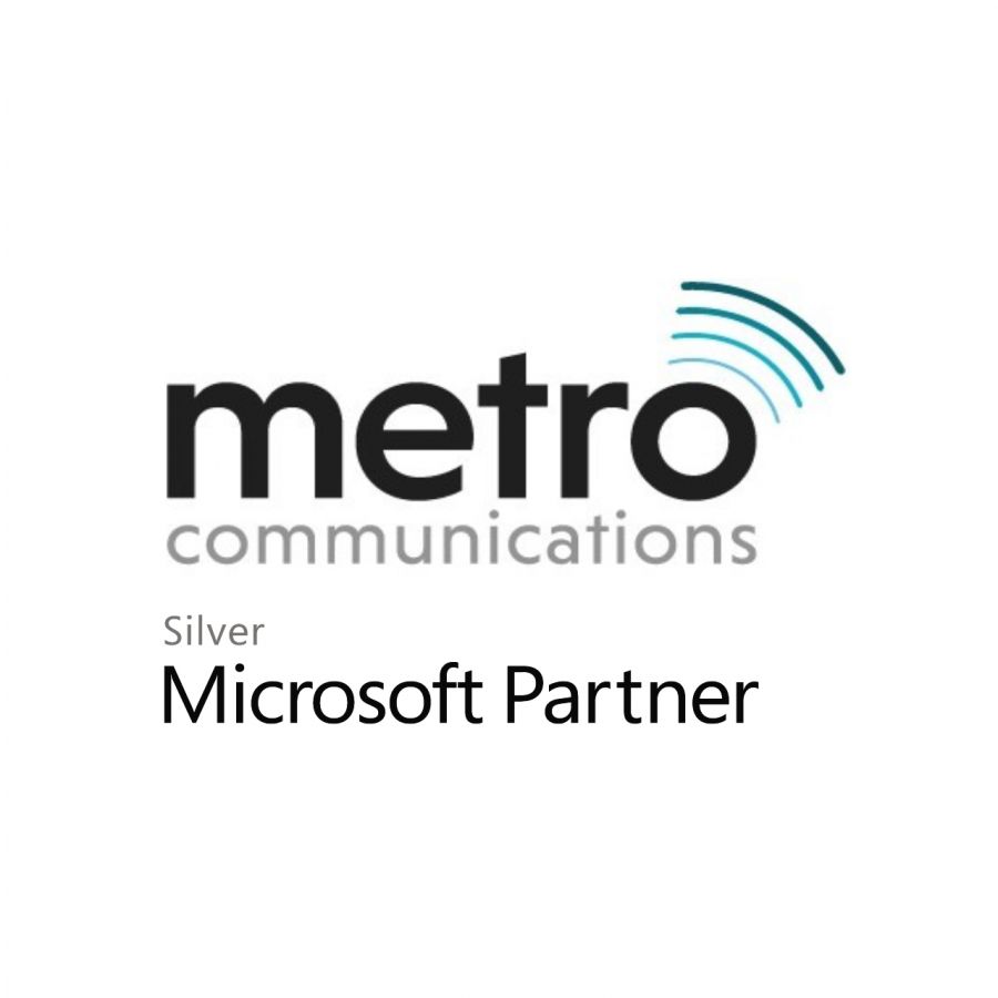 This is the logo of Metro Communications, a Microsoft Silver Partner