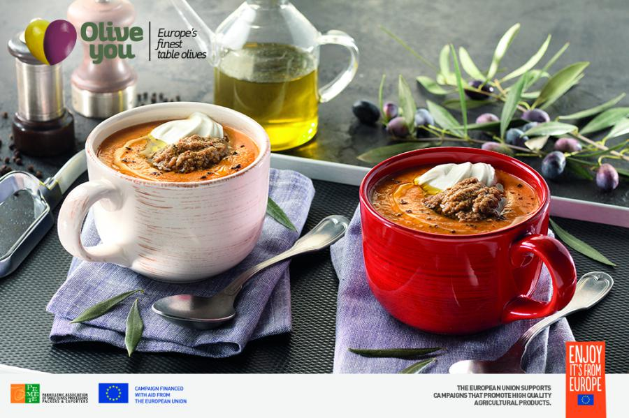 Tomato Soup With Olive Paste