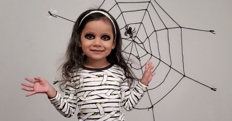 3 year old Emma performs for the online Halloween concert