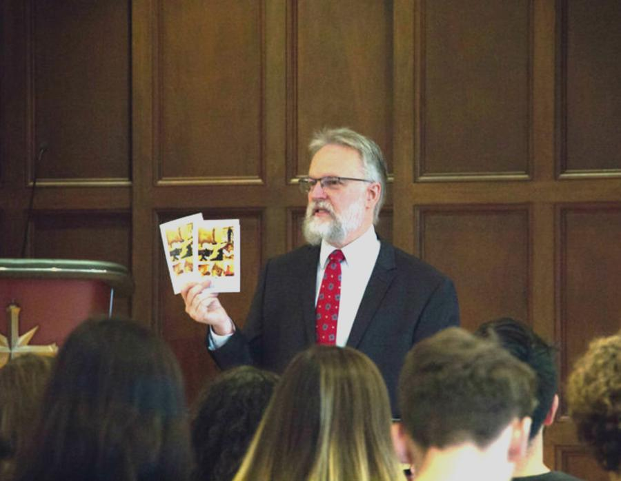 At last year's International Religious Freedom Day service, Rev. Fesler described the impact of the passage of this bill in 1998 and presented those attending with a booklet published by the Church of Scientology International on the freedom of religion.