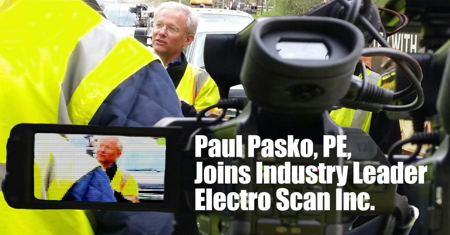 Paul J. Pasko III, PE, interviewed by local media about using Electro Scan's machine-intelligent technology to locate and quantify leaks in underground pipelines.