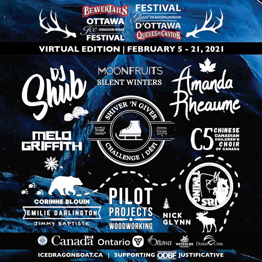 BeaverTails Ottawa Ice Dragon Boat Festival Virtual Edition Full 2021 Line Up Announcement