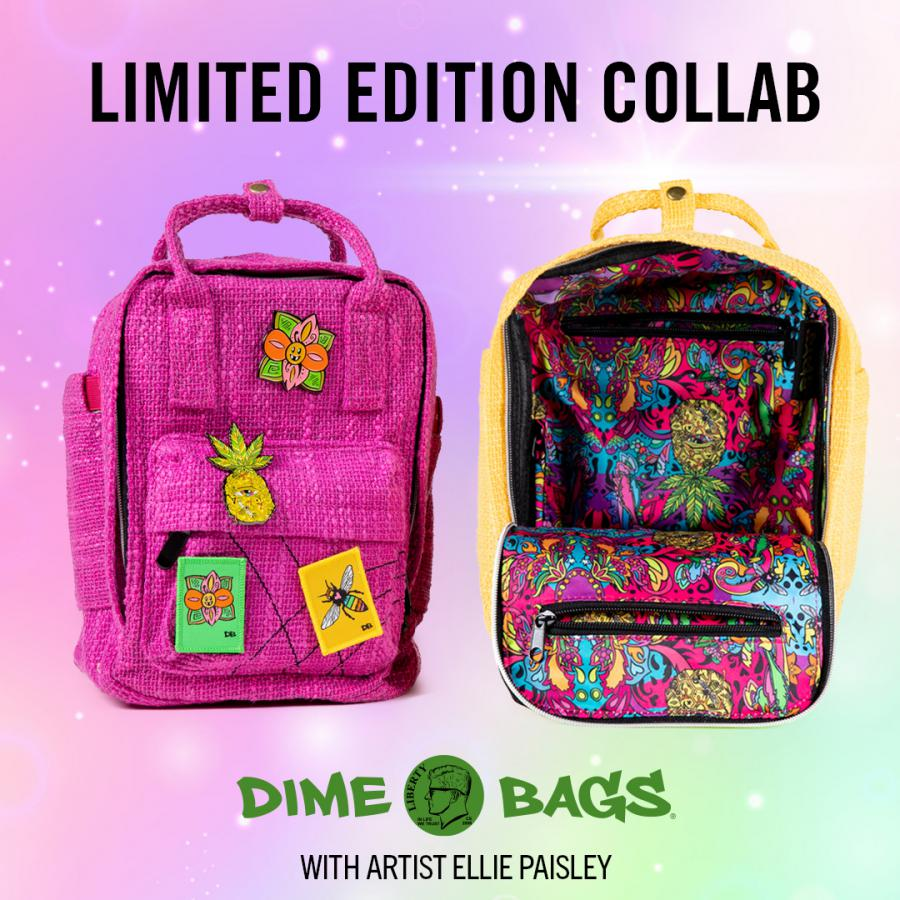 Limited Edition Dime Bags Ellie Paisley Collab Hot Box   Mini Backpacks   Hempster   Artist Bag Dime Bags