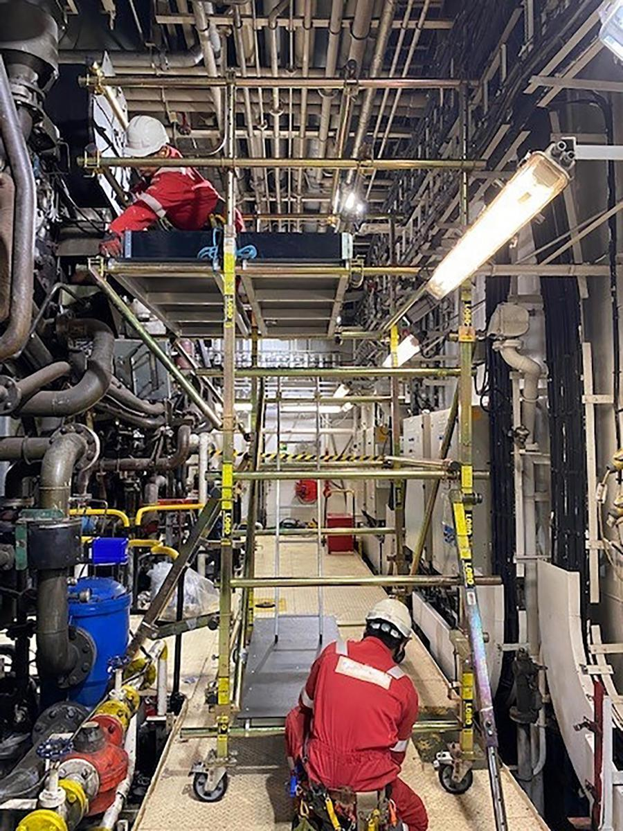 Awkward and confined space on ship access system