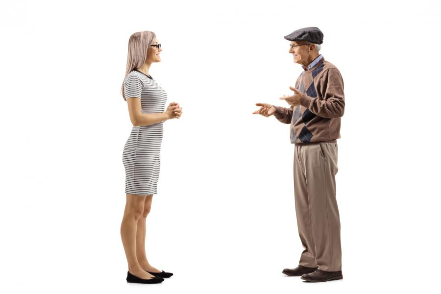 Father and daughter discussing lifetime gifting compared to post death transfer of real property in California