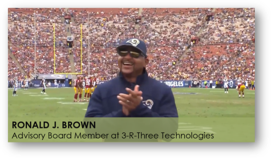 L.A. Rams Legend and Olympic Gold Medalist Ron Brown Joins R-3 Technologies, Inc. Advisory Board
