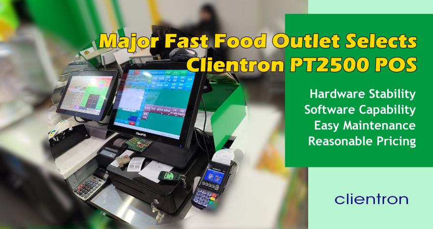 Subway Clientron PT2500 POS System