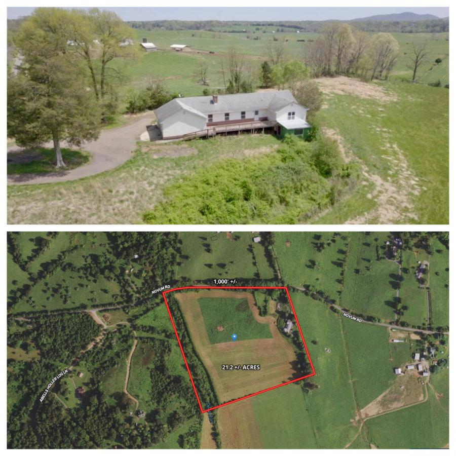 3 BR/3.5 BA ranch style home w/full basement on 21.1± acres in Madison County, VA