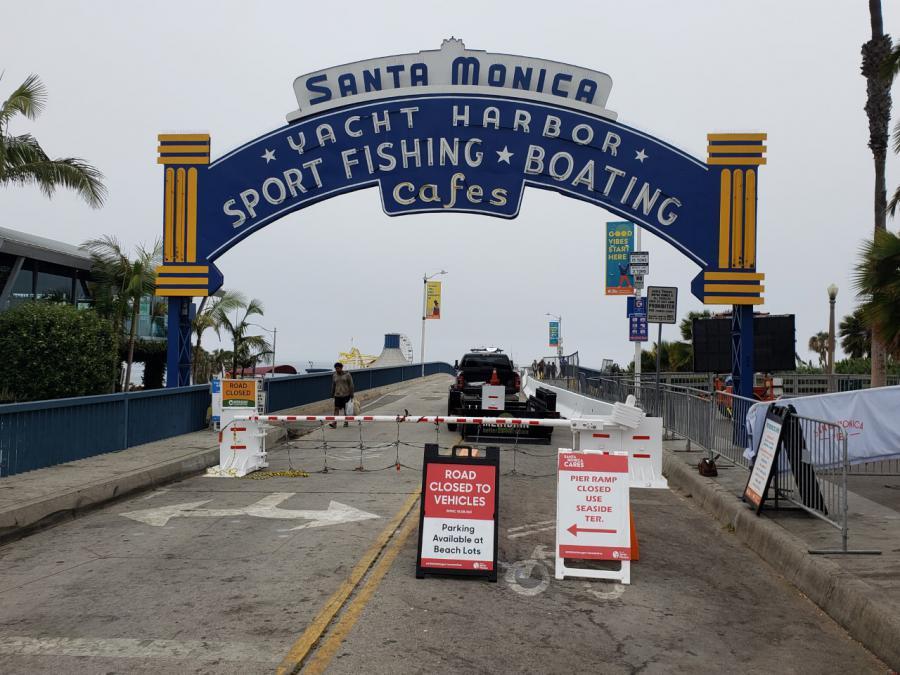 Meridian Beam Gate at Santa Monica Pier