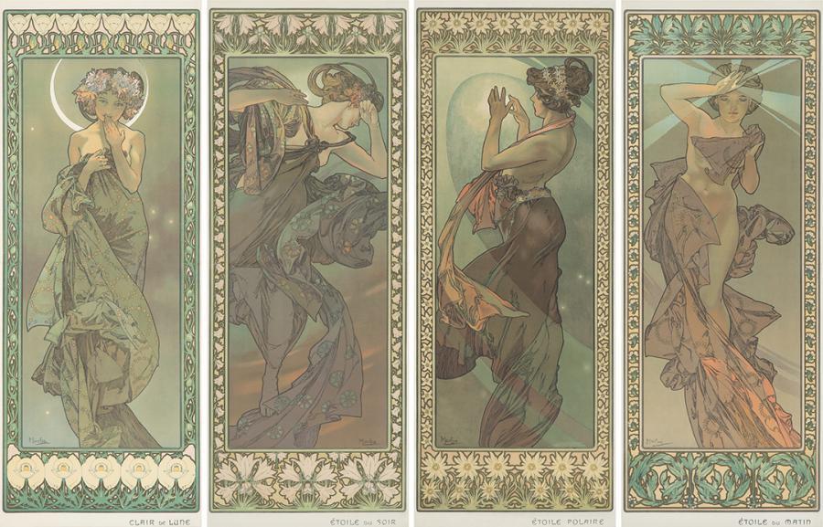 Alphonse Mucha, The Stars. 1902. $120,000.
