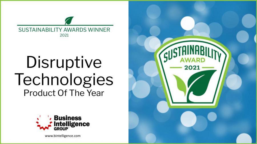 Awarded Product of the Year, sustainability award