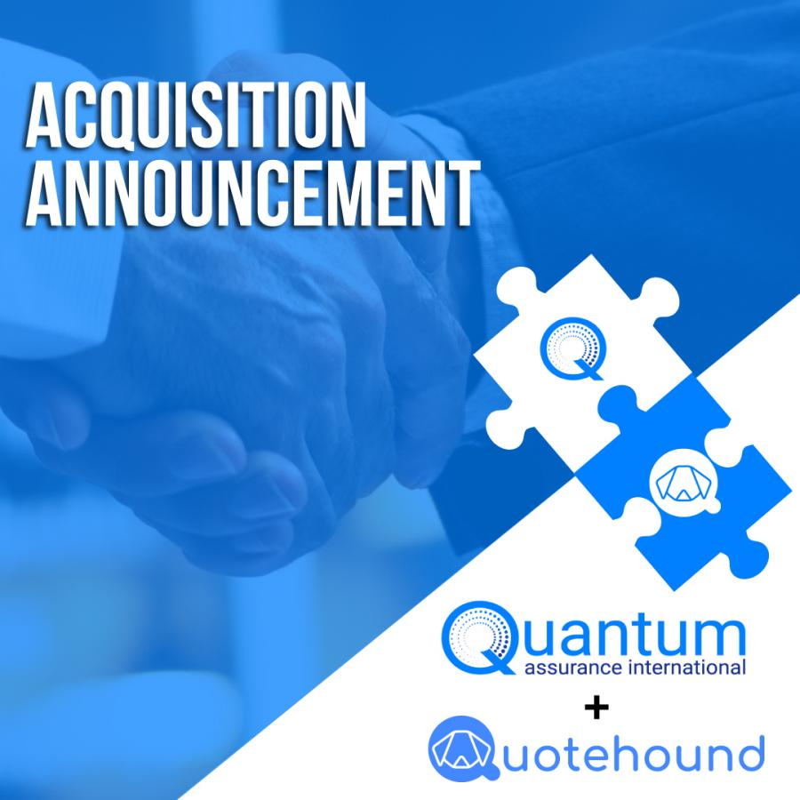 In our commitment to democratize insurance and provide agents with the tools they need to compete in the digital marketplace, we are excited to announce that Quantum Assurance International will be acquiring insurtech Quotehound Inc.