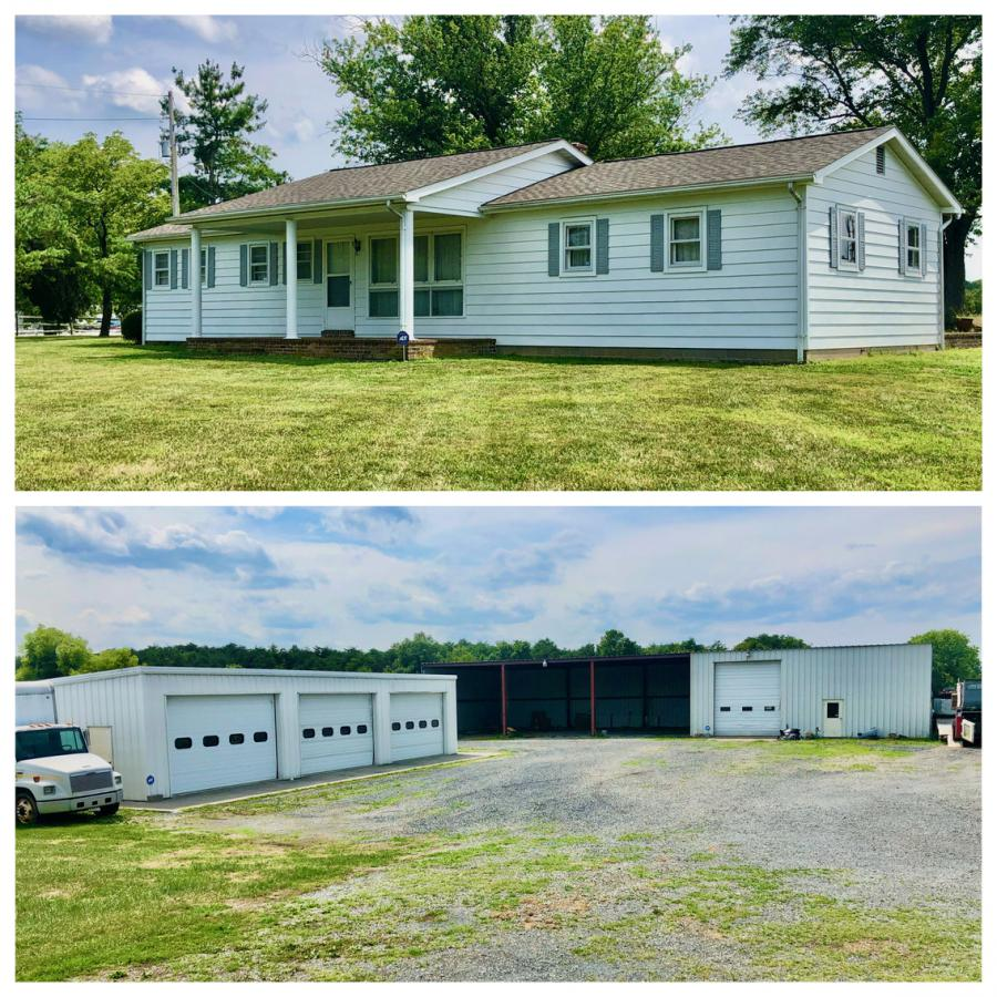 3 BR/1 BA Home w/2 quality shop/garage buildings on 3.25 +/- acres  in White Post, VA (Frederick County) near I-81 and 66