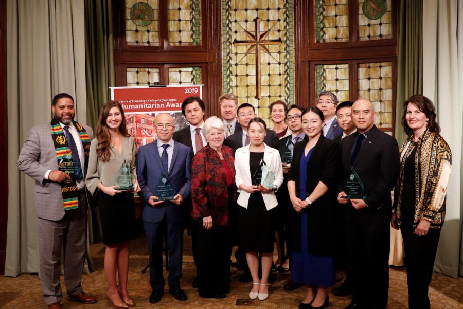 Humanitarian Awardees, Church of Scientology, 2019