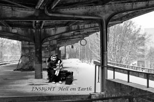 Girl alone at Train Station