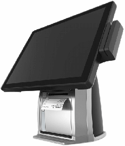 """15"""" 4:3 multi-function PCAP touch POS system with built-in printer"""