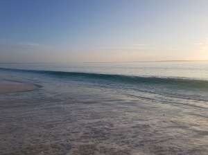 Soliton Wave on famous Hyams Beach in Australia