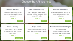 Edamam offers Nutrition Analysis, Meal Recommendation and Food Data APIs.