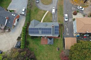 Drone image of an installation that was completed by the SUNation team!