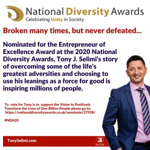 Tony Jeton Selimi National Diversity Entrepreneur of Excellence Awards News