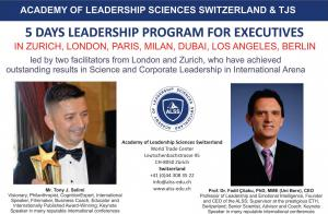 Tony Jeton Selimi Partners with Academy of Leadership Sciences Switzerland to Globally Deliver Leadership Training