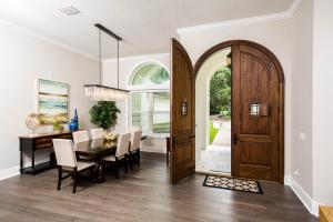 Deign-Build Project Double Arched Wood Front Door