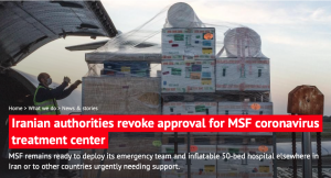 Doctors Without Borders (MSF) expelled from Iran