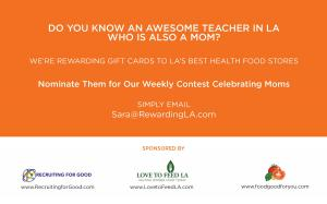 Nominate Your Favorite Teacher to Award Her Food for Good and Help Feed Her Kids Too