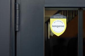24/7 Security by Kangaroo Door Sticker