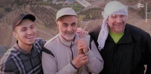 IRGC Brig. Gen. Mohammad Baqer Qalibaf (Ghalibaf) with Qasem Soleimani and Jihad Muqniyah, son of Imad Muqniyah