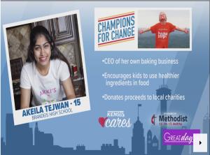 Akeila Tejwani donated $1,700 to kids charities in San Antonio in 2020