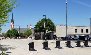 Meridian barriers are staged ahead of Black Lives Matter protest in Green Bay