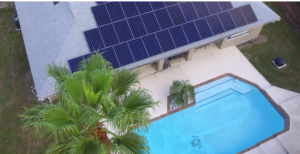 Large solar installation on roof