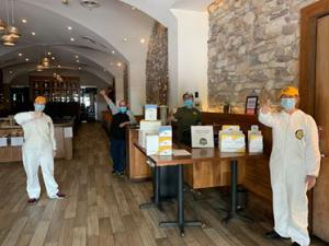 Stay Well booklets displayed at restaurant for distribution to their patrons