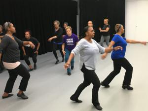 """The weekly """"me time"""" for Mo Jazz Dance Company members was rehearsal, and a chance to dance."""