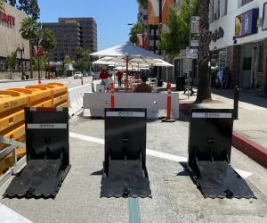 Meridian Vehicle Barriers Secure Expanded Dining Area in Pasadena