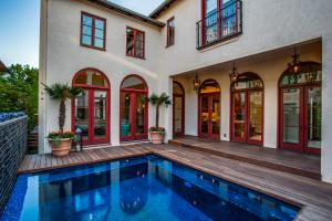 Pool and deck view.