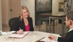 API's Vice President, Jennifer Pickerel, participates in a mock interview.
