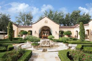 Classically landscaped courtyard and sculpture gardens, which feature a 14th century fountain.