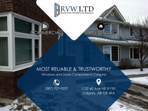 Most reliable and trustworthy windows and doors company in Calgary. Phone no:(587) 707-9257 Address:1122 40 Ave NE Calgary, AB T2E 5T8