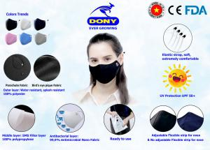 DONY MASK - premium Covid antibacterial cloth face mask (washable, reusable) with CE, FDA, TUV Reach, DGA Certification
