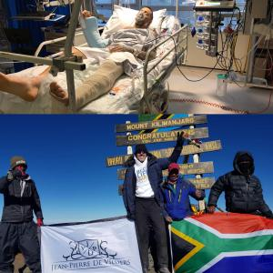 From near death to Kilimanjaro in 15 months
