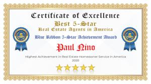 Paul Nino Certificate of Excellence Parker CO