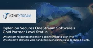 Inplenion Secures OneStream Software's Gold Partner Level Status