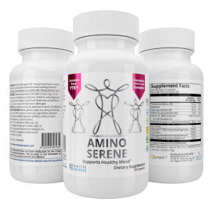 NEW AminoSerene Advanced Supplement w/ YTE to calm anxiety, look and feel younger, manage stress, collagen, immune system, Norwegian Young Tissue Extract, non-dairy, vegetarian
