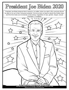 Coloring Page President Biden