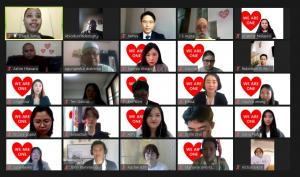 Religious leaders participated in the online prayer meeting